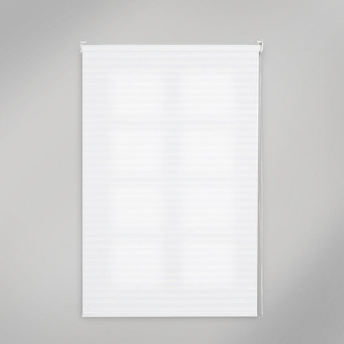 Estor enrollable translúcido print lines blanco de 135x250cm