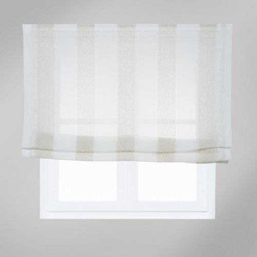 Estor plegable raya ancha beige 165x175 cm