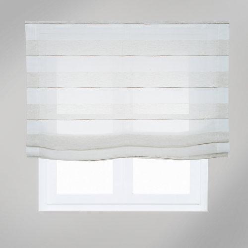 Estor plegable raya bordada 75x250 cm