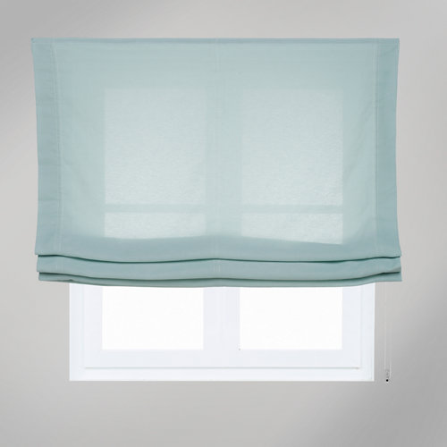 Estor plegable aire menta 105x250 cm
