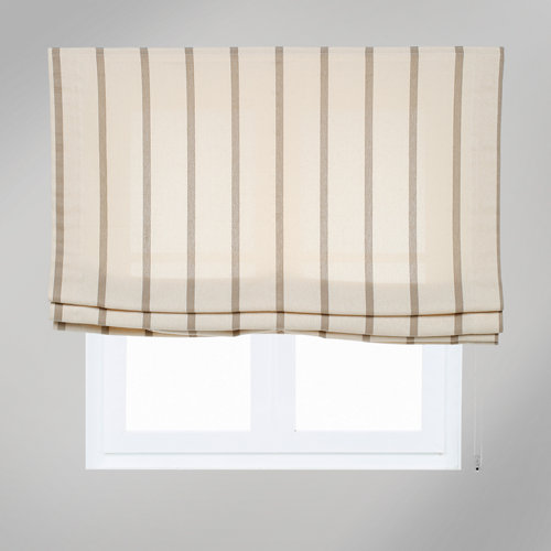 Estor plegable yute raya marrón 105x175 cm