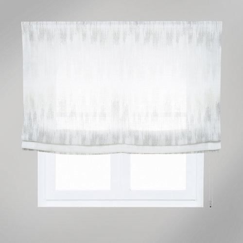 Estor plegable niza raya gris 75x250 cm