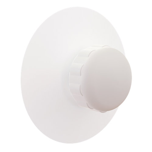 Percha de baño ventosa remix/neo blanco 5,5x5,5 cm