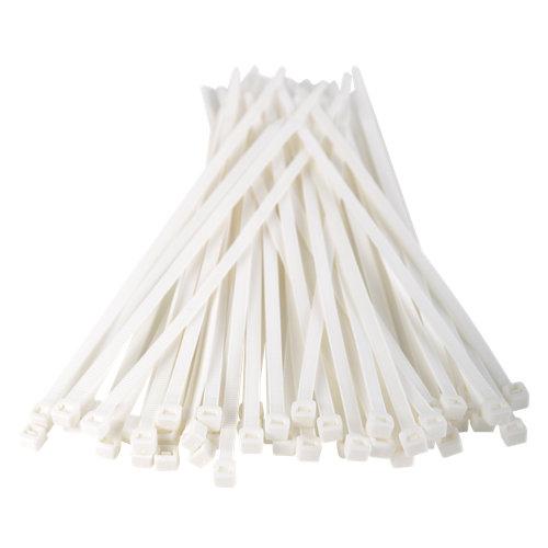 Set de 50 bridas blancas tenax 4,8x200mm para uso exterior e interior