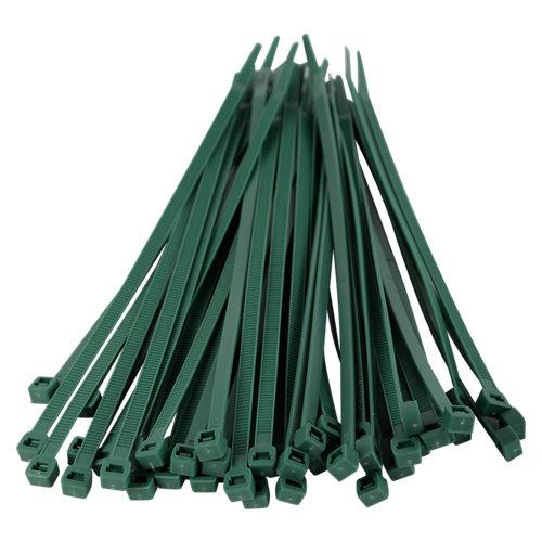 Set de 50 bridas verdes tenax 4,8x200mm para uso exterior e interior