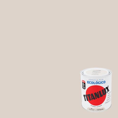 Esmalte al agua titanllux blanco piedra brillo 0,75l
