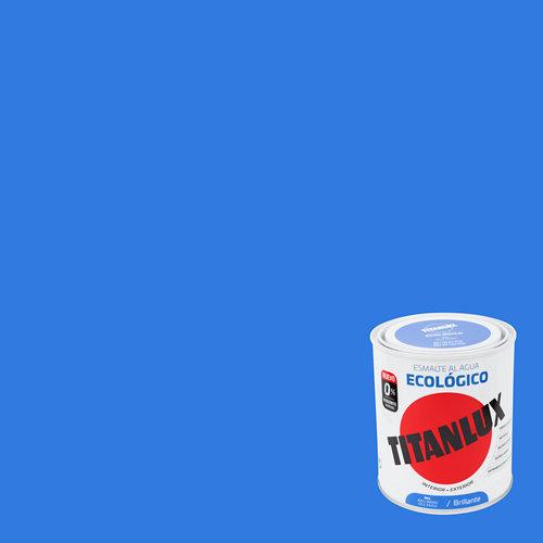 Esmalte al agua titanlux azul índigo brillo 0,75l