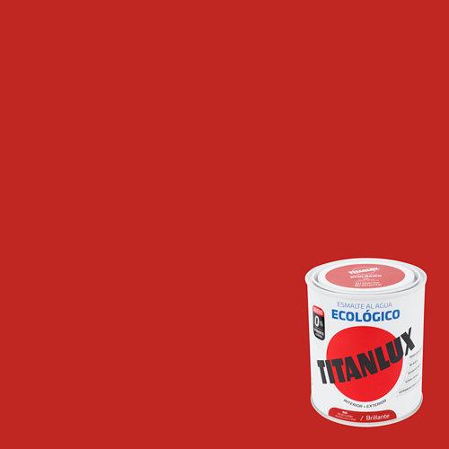 Esmalte al agua titanlux rojo china brillo 0,75l