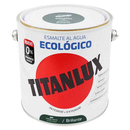 Esmalte acrílico titanlux verde mayo brillo 2,5l