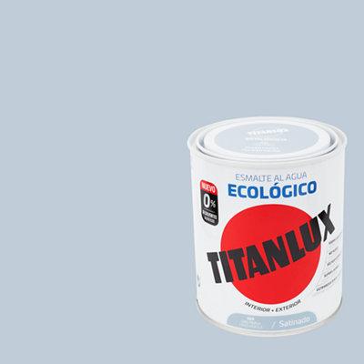 Esmalte al agua TITANLUX gris perla satinado 0,75L