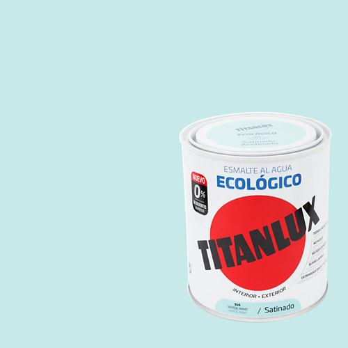 Esmalte al agua titanlux verde menta satinado 0,75l