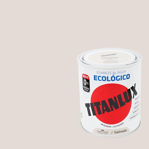 Esmalte al agua titanlux blanco piedra satinado 0,75l