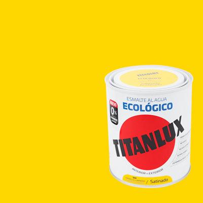 Esmalte al agua TITANLUX amarillo luminoso satinado 0,75L