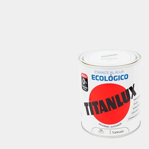 Esmalte al agua titanlux blanco satinado 0,75l