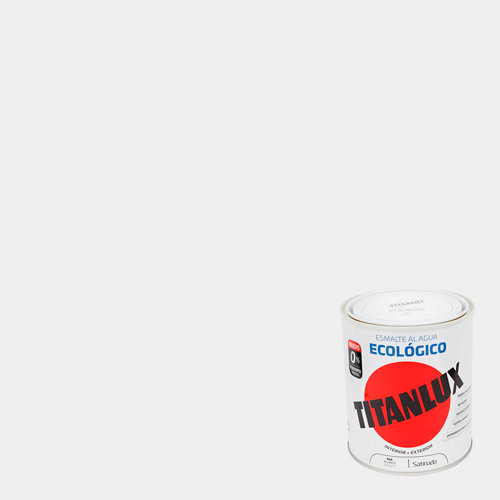 Esmalte al agua titanlux blanco satinado 2,5l
