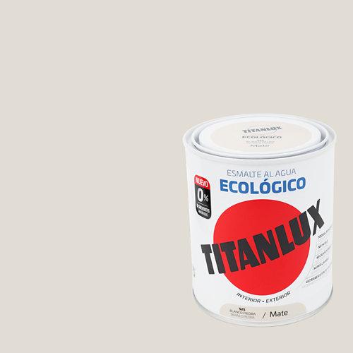 Esmalte al agua titanlux blanco piedra mate 0,75l