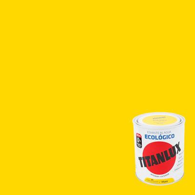 Esmalte al agua TITANLUX amarillo luminoso mate 0,75L