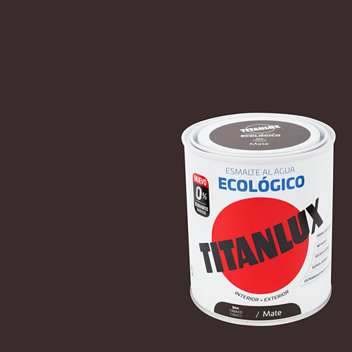 Esmalte al agua titanlux tabaco mate 0,75l