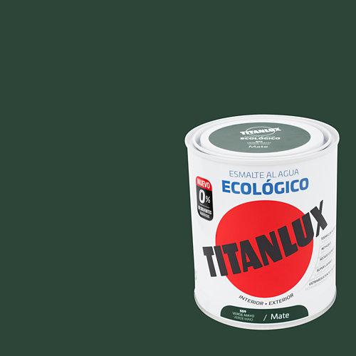 Esmalte al agua titanlux verde mayo mate 0,75l