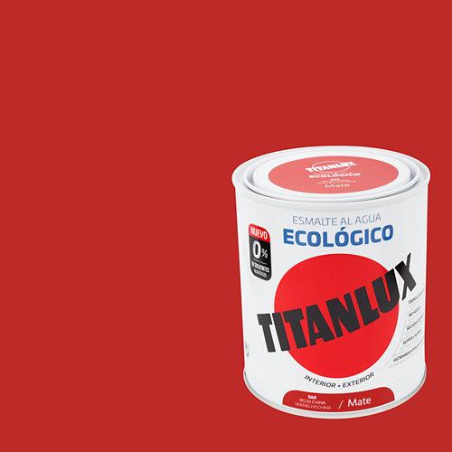 Esmalte al agua titanlux rojo china mate 0,75l