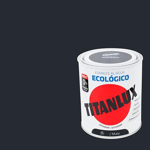 Esmalte al agua titanlux negro mate 0,75l