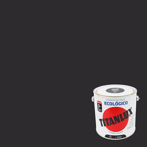 Esmalte al agua titanlux negro mate 2,5l
