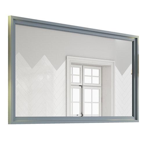 Espejo de baño harmony gris / plata 140 x 70 cm