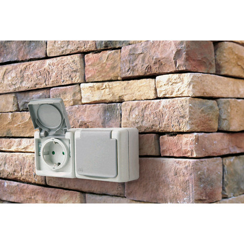 Interruptor doble para persiana legrand plexo gris