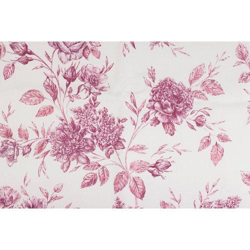 Tela en bobina rosa algodón ancho 280cm