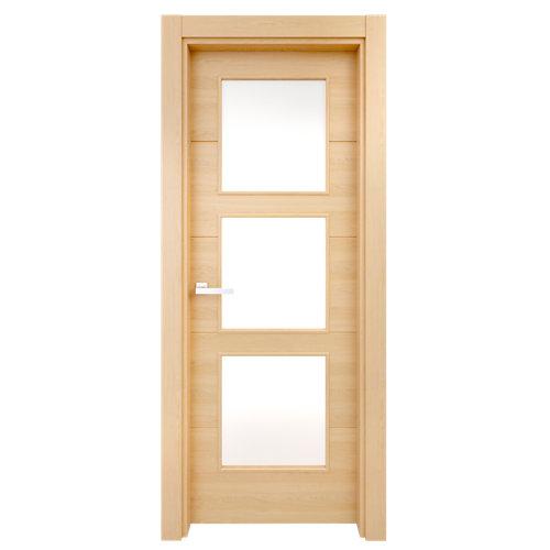 Puerta berna roble de apertura izquierda de 72.5 cm