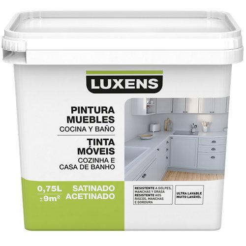 Esmalte para mueble de cocinas y baños satinado luxens 750 ml blanco