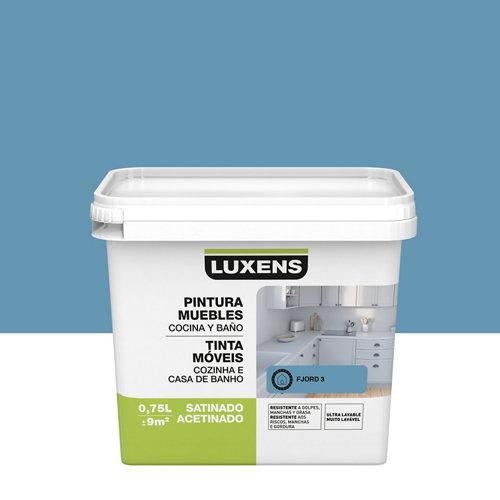 Esmalte para mueble de cocinas y baños satinado luxens 750 ml azul