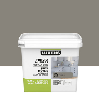 Esmalte para mueble de cocinas y baños satinado LUXENS 750 ml marrón