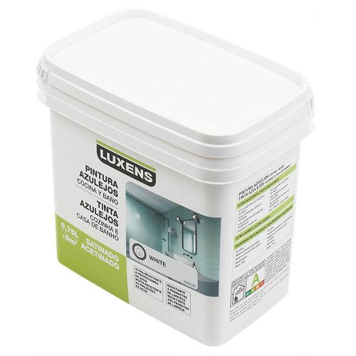 Esmalte para azulejos luxens blanco satinado 0,75l