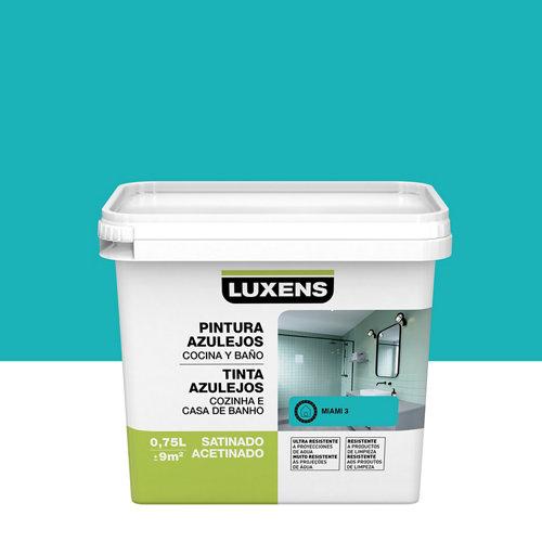 Esmalte para azulejos luxens azul miami satinado 0,75l