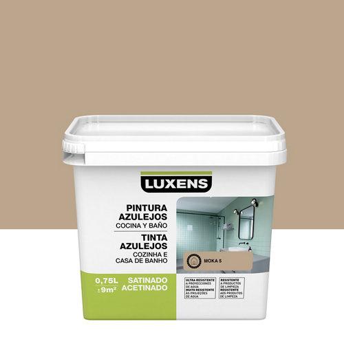 Esmalte para azulejos luxens marrón moka satinado 0,75l