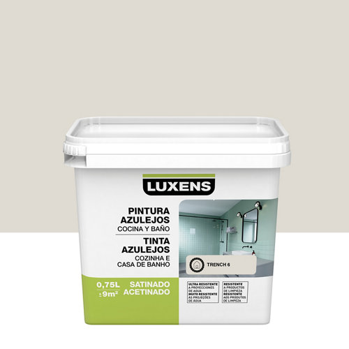 Esmalte para azulejos luxens trench satinado 0,75l
