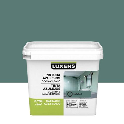 Esmalte para azulejos luxens verde laguna satinado 0,75l