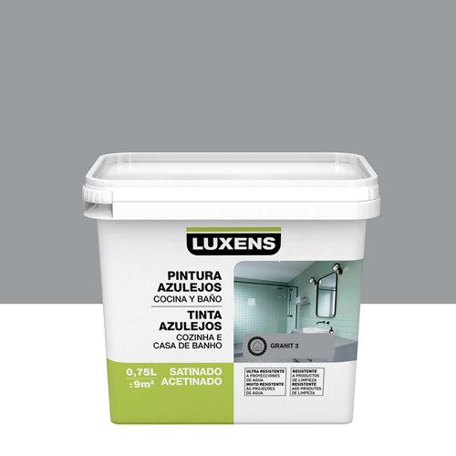 Esmalte para azulejos luxens gris granito satinado 0,75l