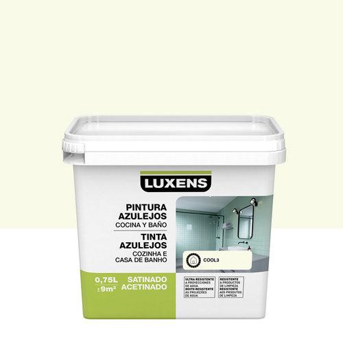 Esmalte para azulejos luxens blanco cool satinado 0,75l