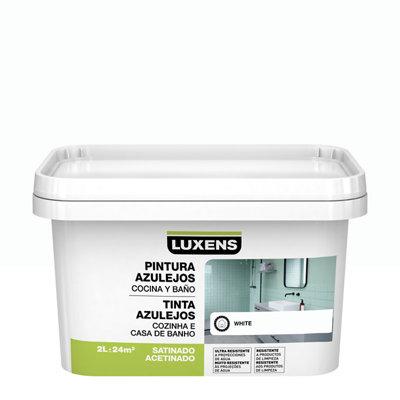 Esmalte para azulejos LUXENS blanco satinado 2L