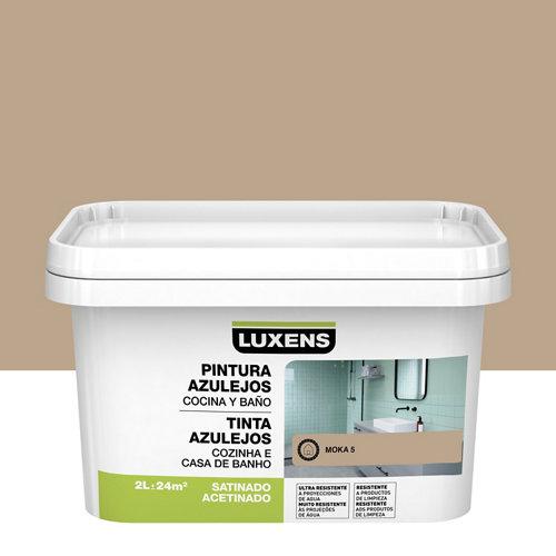 Esmalte para azulejos luxens marrón moka satinado 2l