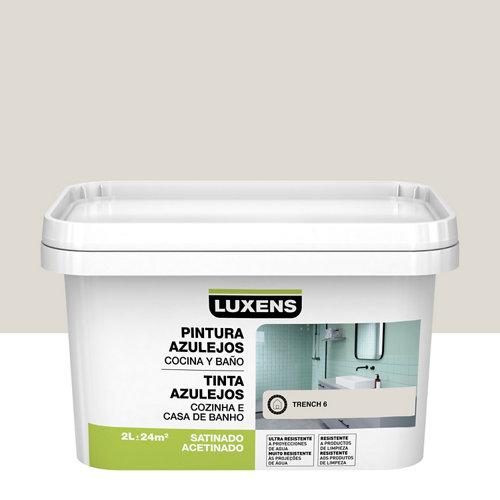 Esmalte para azulejos luxens trench satinado 2l