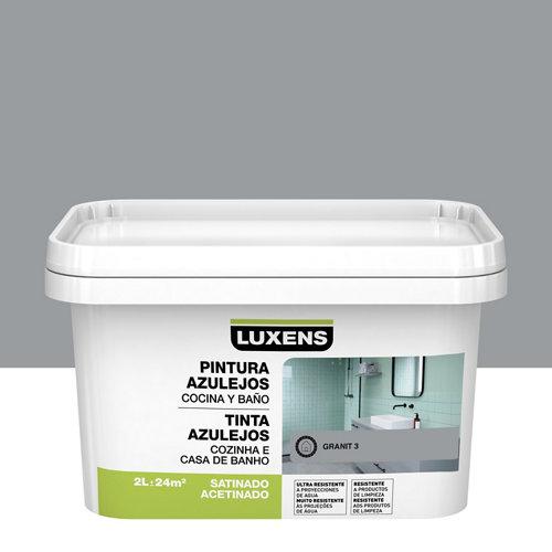 Esmalte para azulejos luxens gris granito satinado 2l