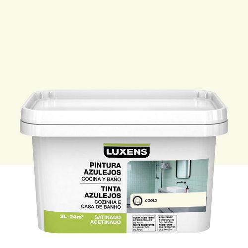 Esmalte para azulejos luxens blanco cool satinado 2l