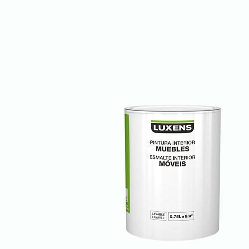 Esmalte para muebles luxens blanco satinado 0,75l