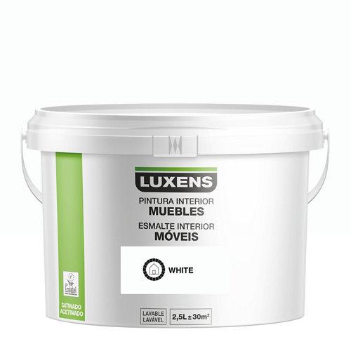 Esmalte para muebles luxens blanco satinado 2,5l