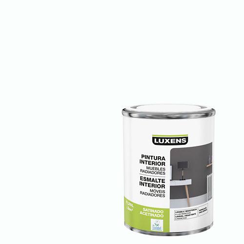 Esmalte de interior monocapa luxens blanco satinado 0,25l