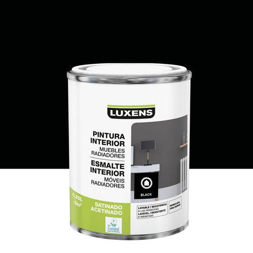 Esmalte de interior monocapa luxens negro satinado 0,25l