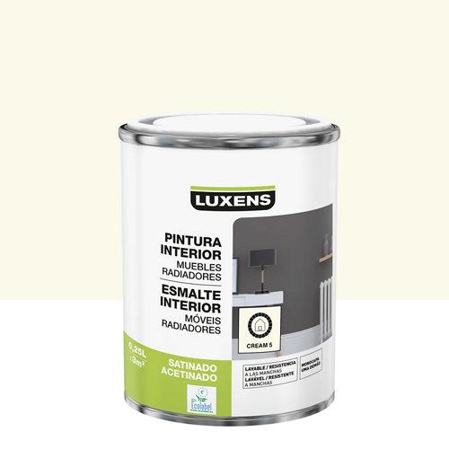 Esmalte de interior luxens crema 5 satinado 0,25l